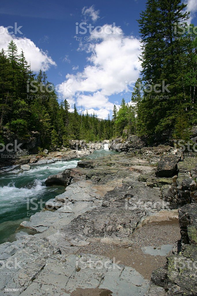 McDonald Creek royalty-free stock photo