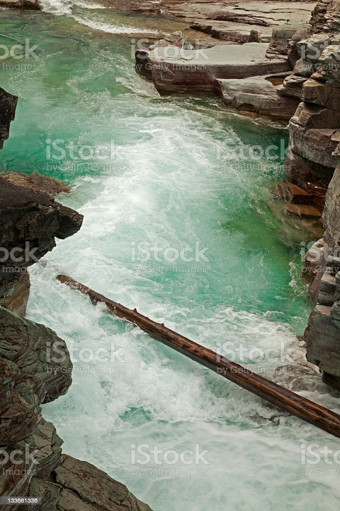 McDonald Creek Rapids Glacier National Park Montana royalty-free stock photo