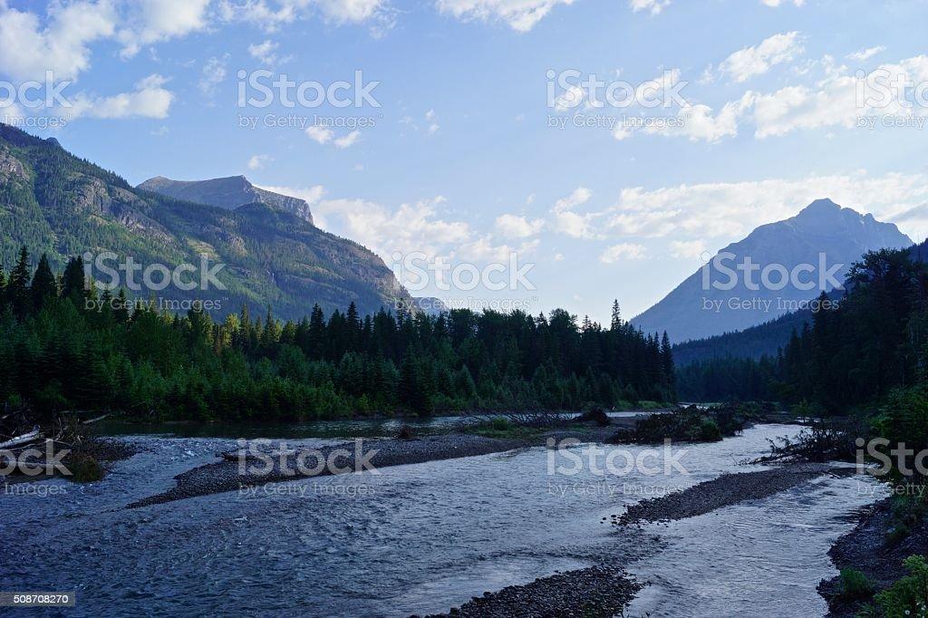 McDonald Creek Shady stock photo