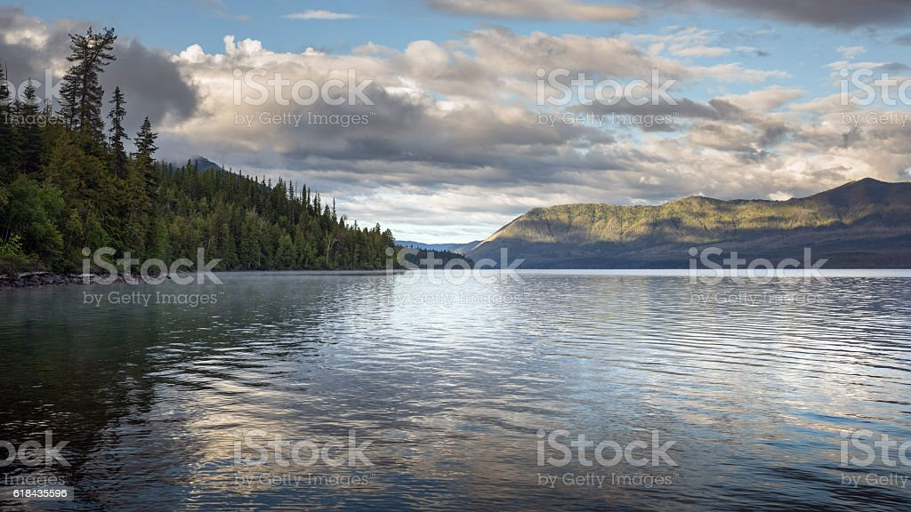 McDonald Lake Glacier National Park stock photo