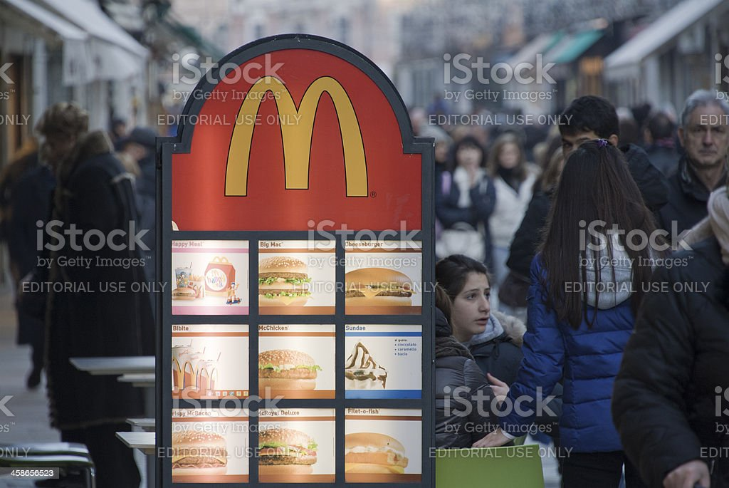 McDonald stock photo