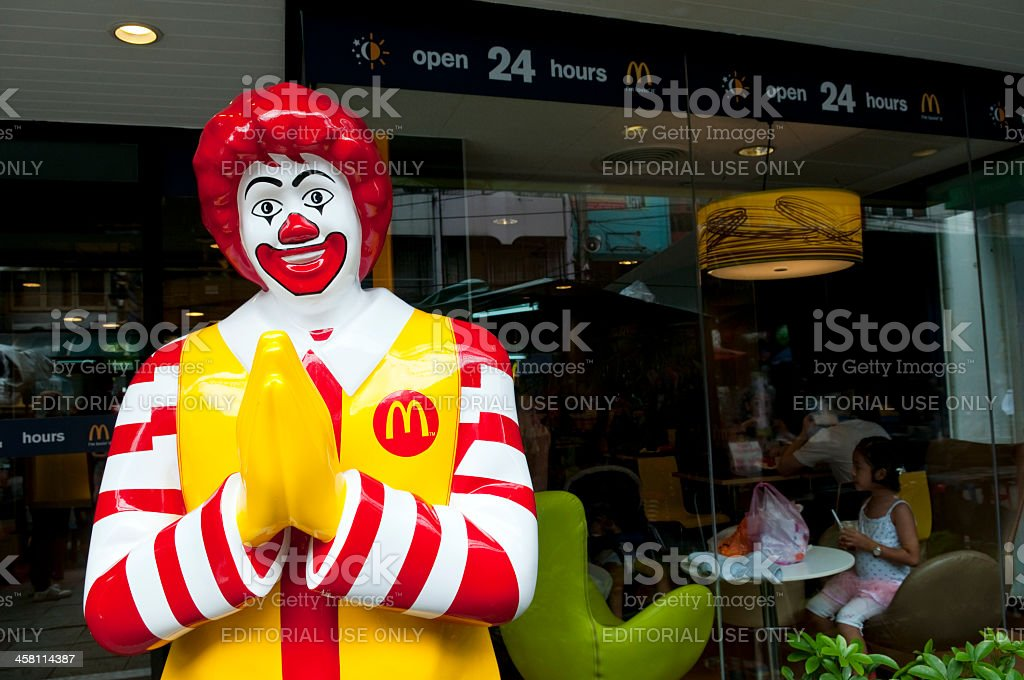 McDonald's and culture in Thailand stock photo