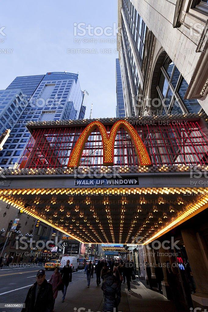 McDonald's at 42nd Street New-York royalty-free stock photo