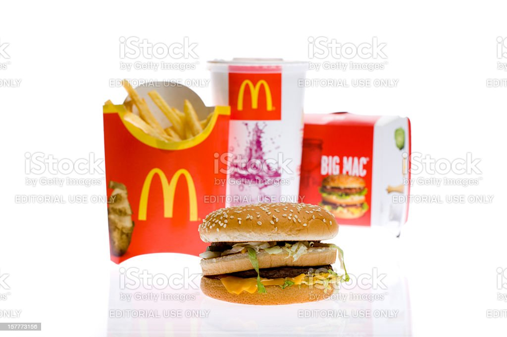 McDonald's Big Mac Burger Meal stock photo