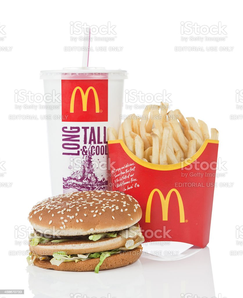 McDonald's Big Mac Value Meal royalty-free stock photo