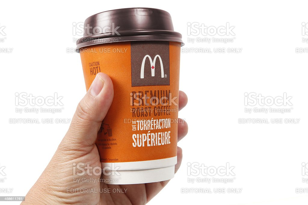 McDonalds coffee cup royalty-free stock photo