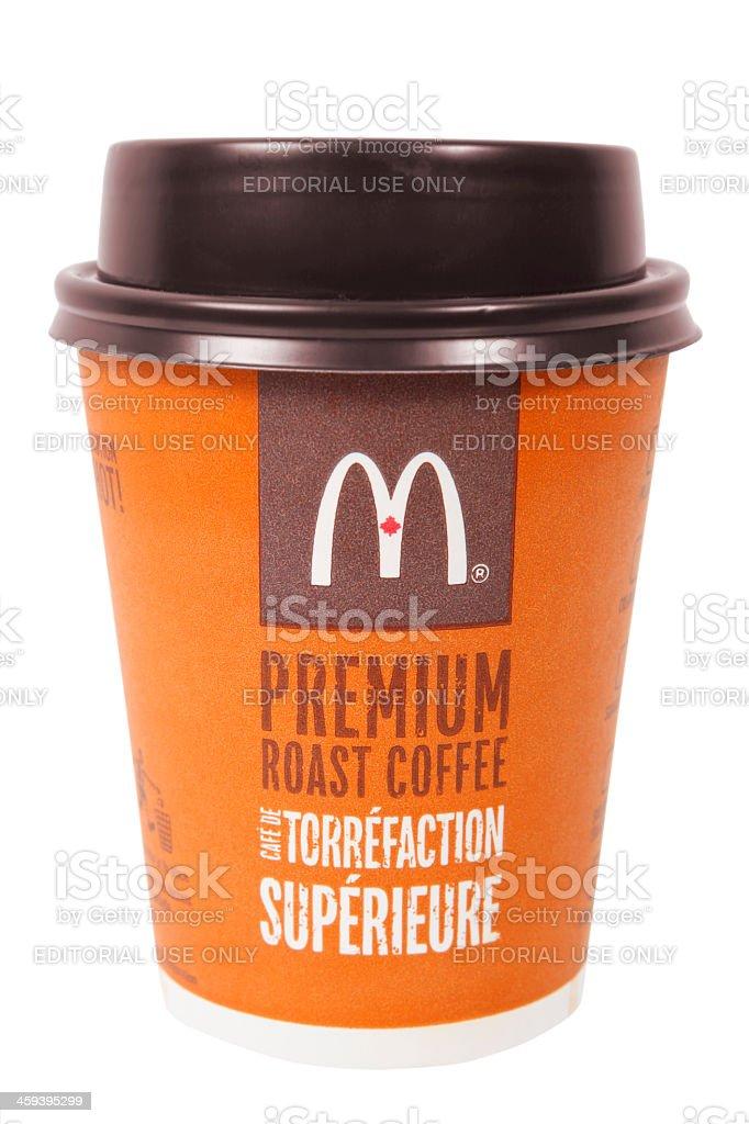 McDonalds coffee cup stock photo