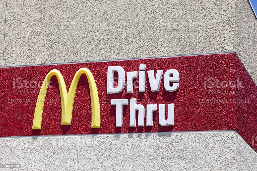 McDonalds Drive Thru stock photo