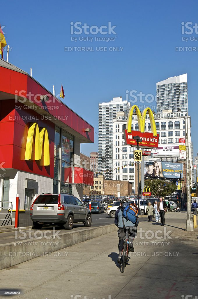 McDonald's Drive-Thru at W.34th St & 10th Ave, NYC stock photo