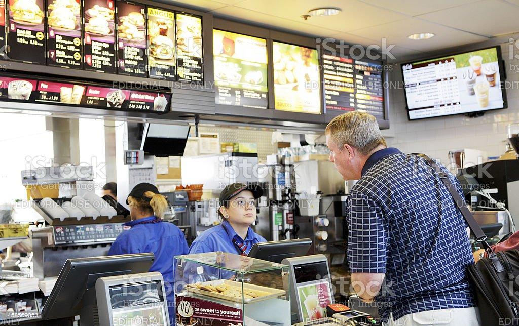 McDonald's Fast Food royalty-free stock photo