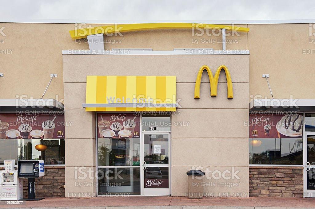McDonald's Fast Food Restaurant stock photo