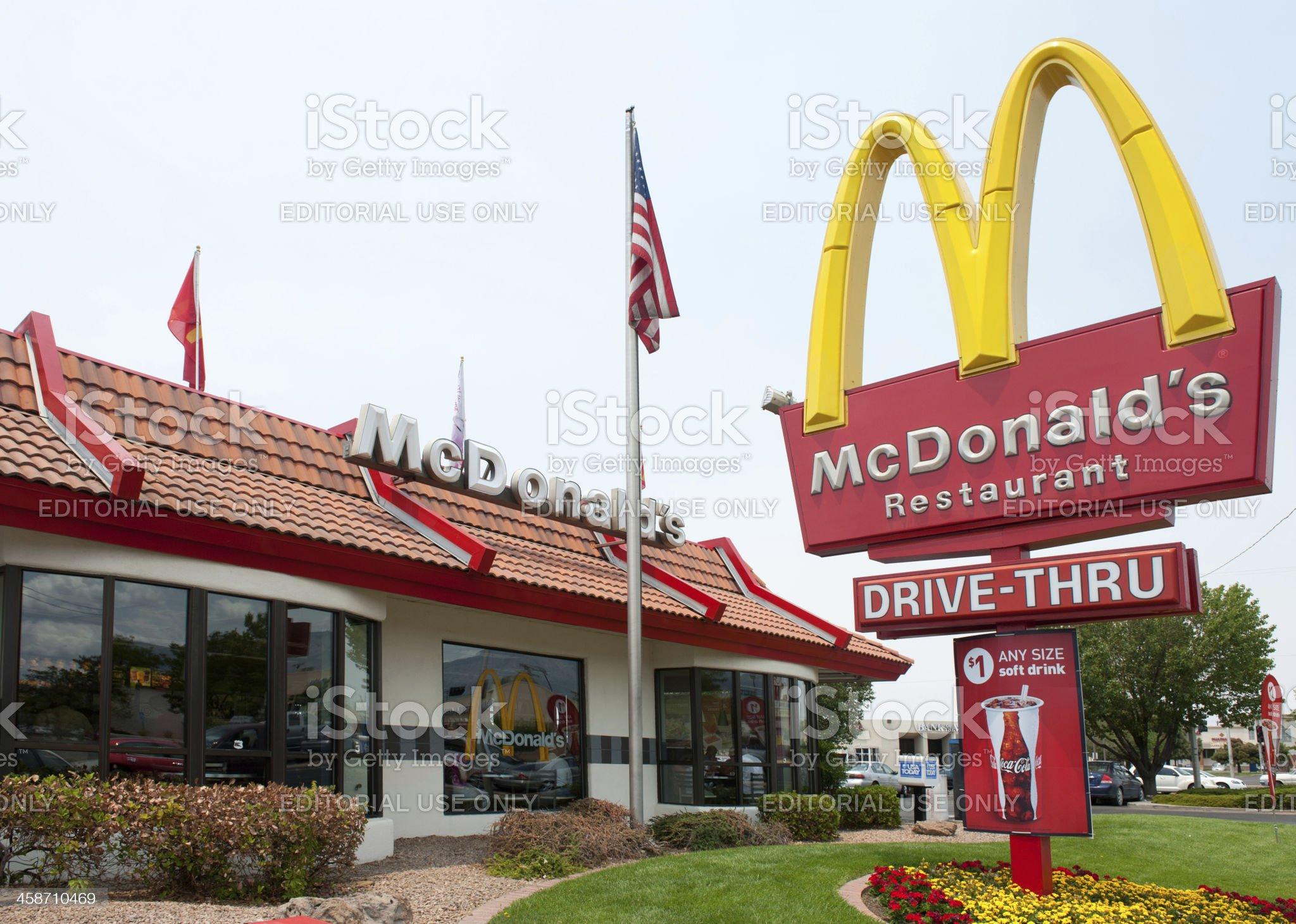 McDonald's Fast Food Restaurant royalty-free stock photo
