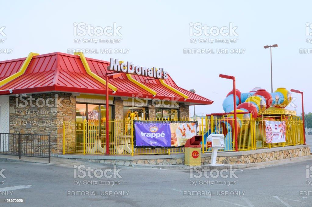 McDonalds fast-food restaurant. royalty-free stock photo