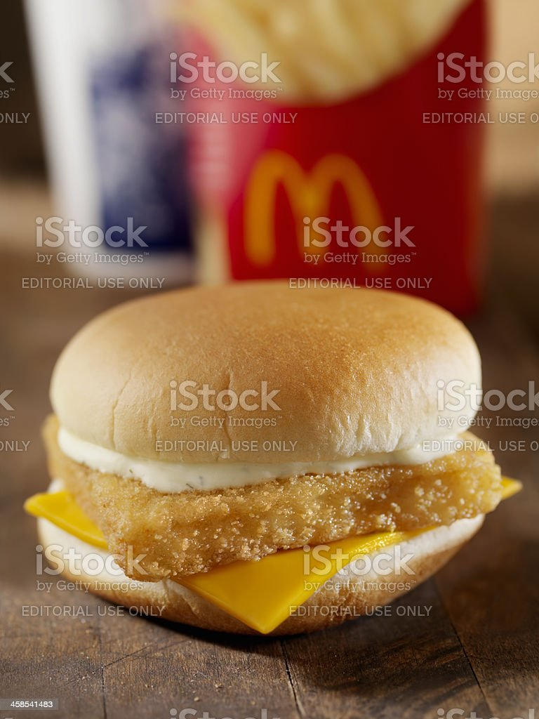 McDonalds Fillet of Fish Meal stock photo