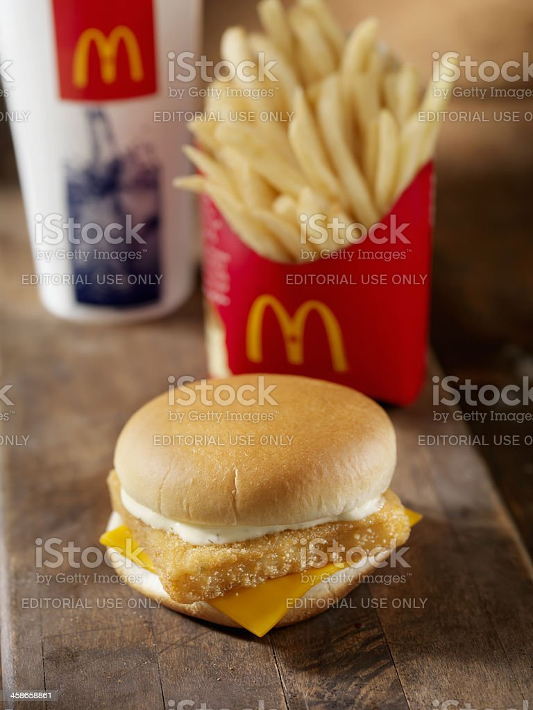 McDonalds Fillet of Fish Meal royalty-free stock photo