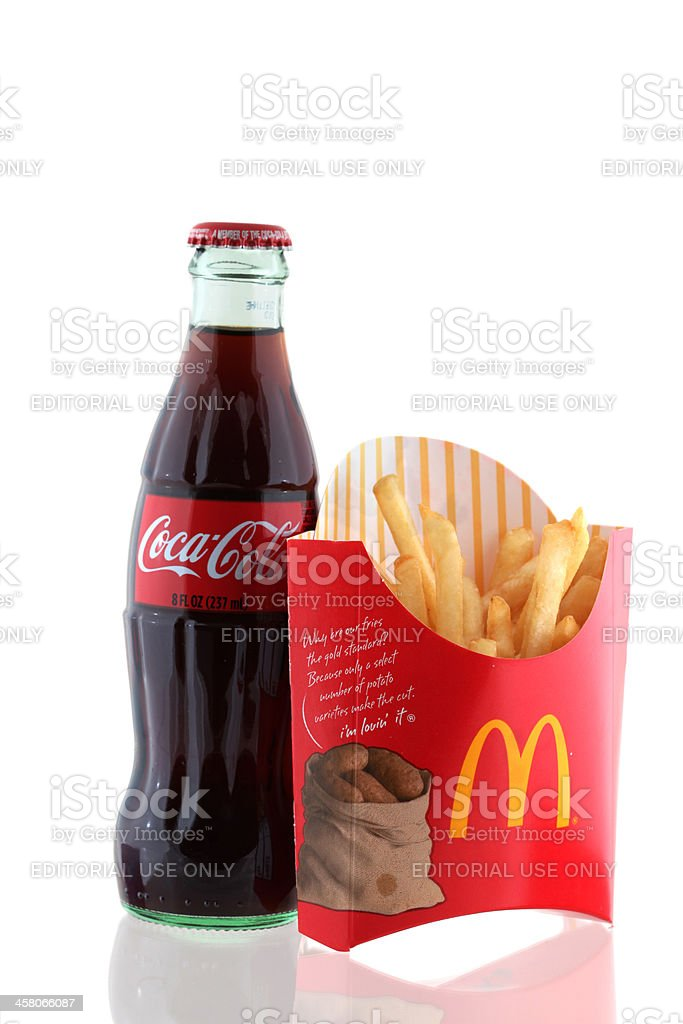 McDonald's french fries and Coke royalty-free stock photo