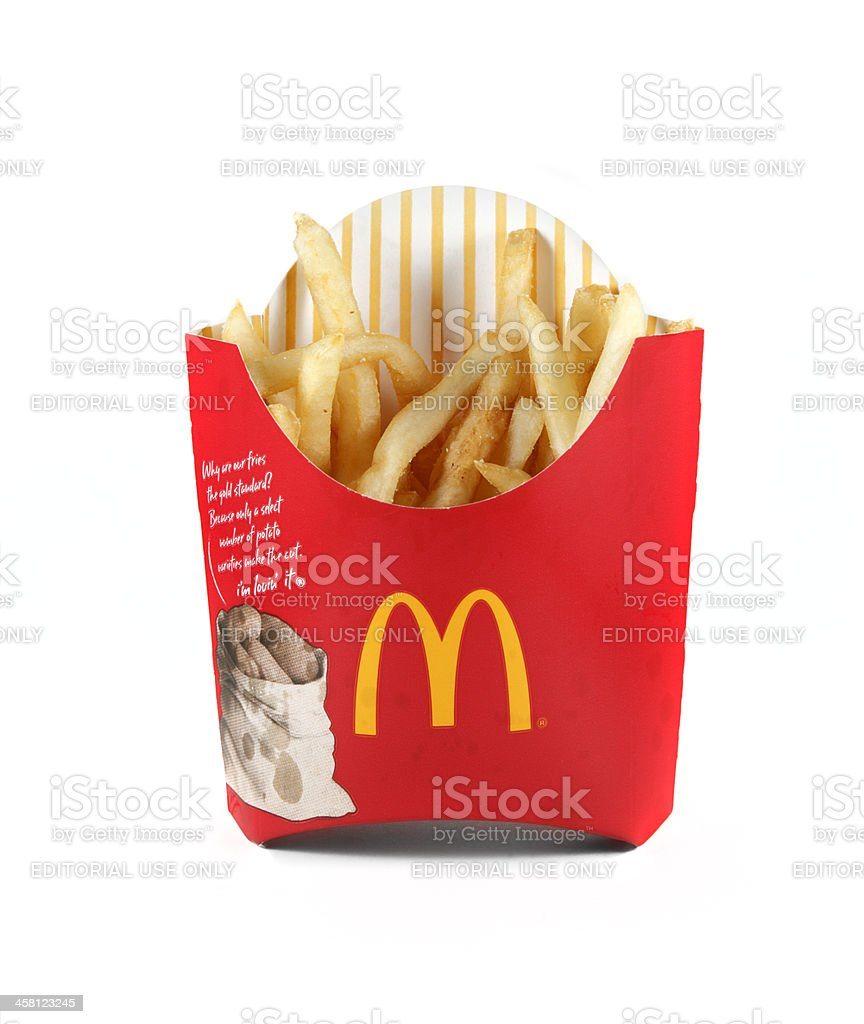 McDonald's French Fries royalty-free stock photo