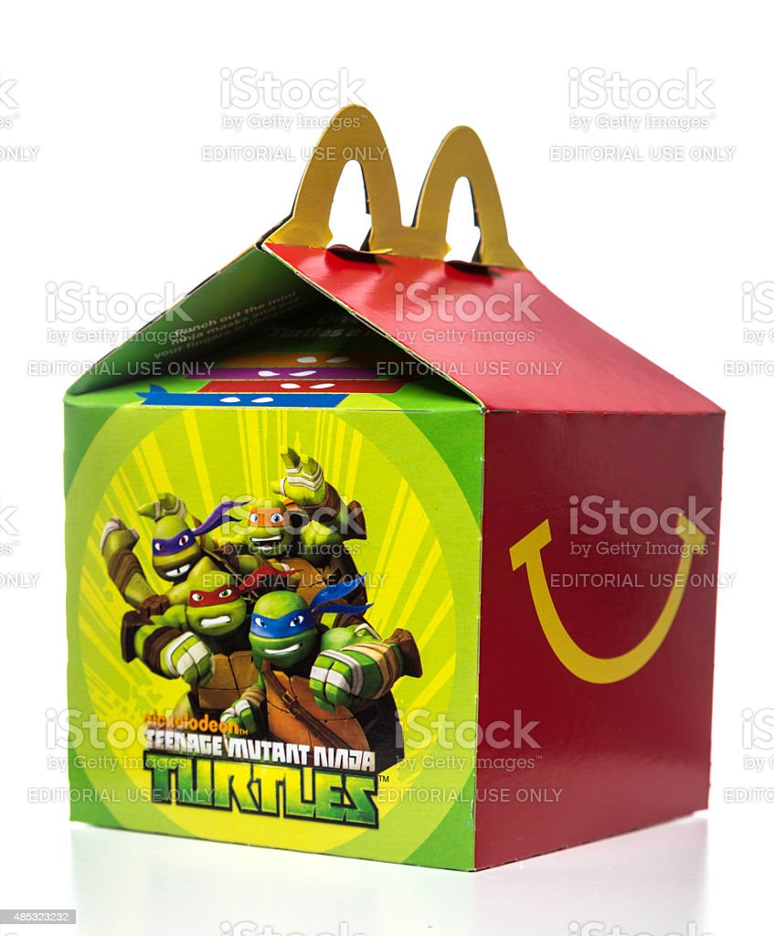 McDonalds happy meal box stock photo