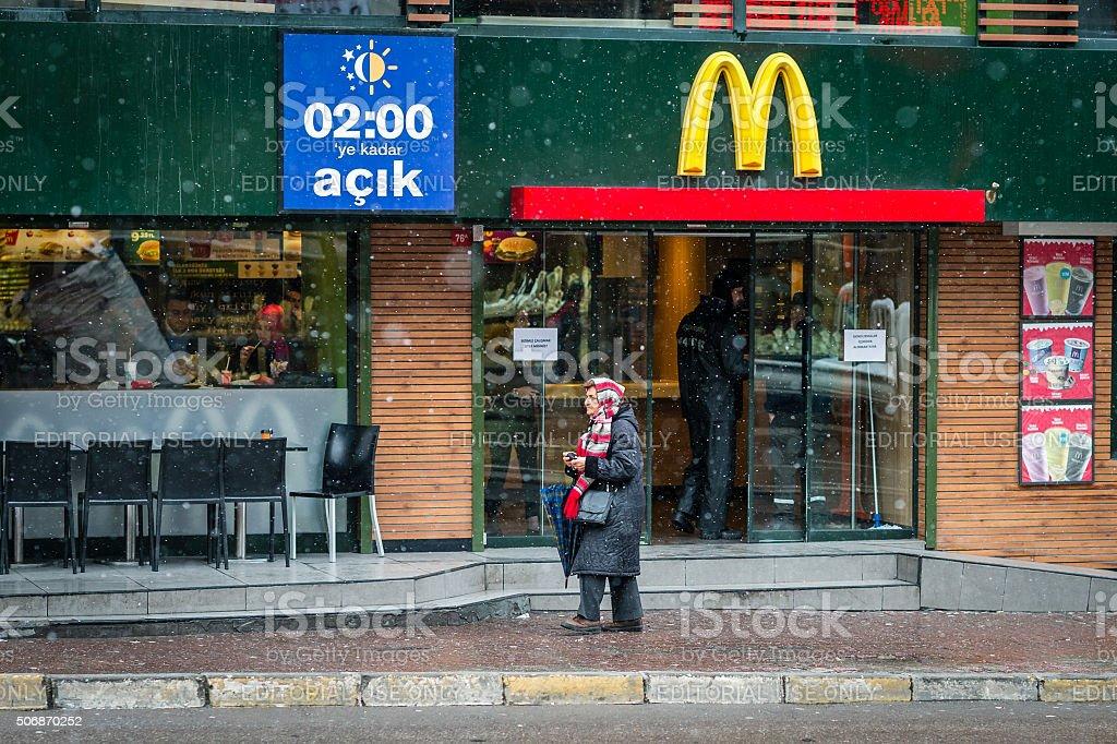 McDonald's in kadikoy, Istanbul, Turkey stock photo