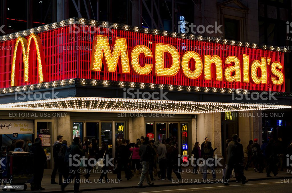 McDonald's in the Theater District - 42nd. Street NYC royalty-free stock photo