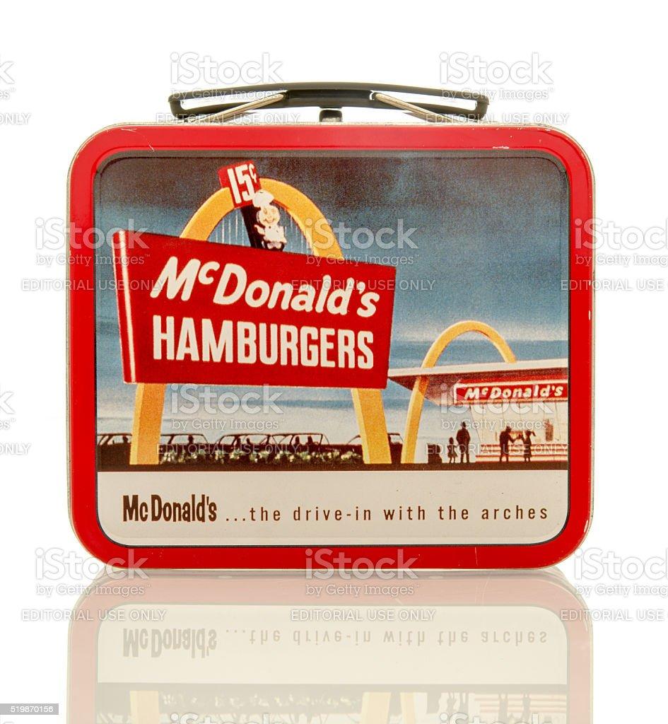 McDonald's Lunch Box stock photo