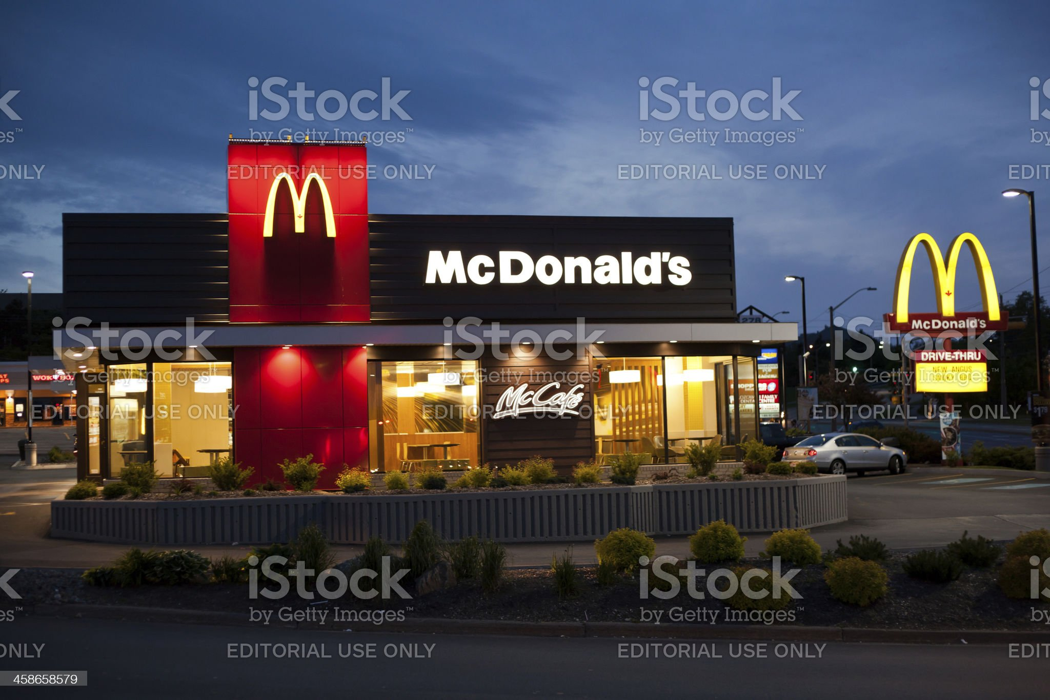 McDonald's Restaurant at Dusk royalty-free stock photo