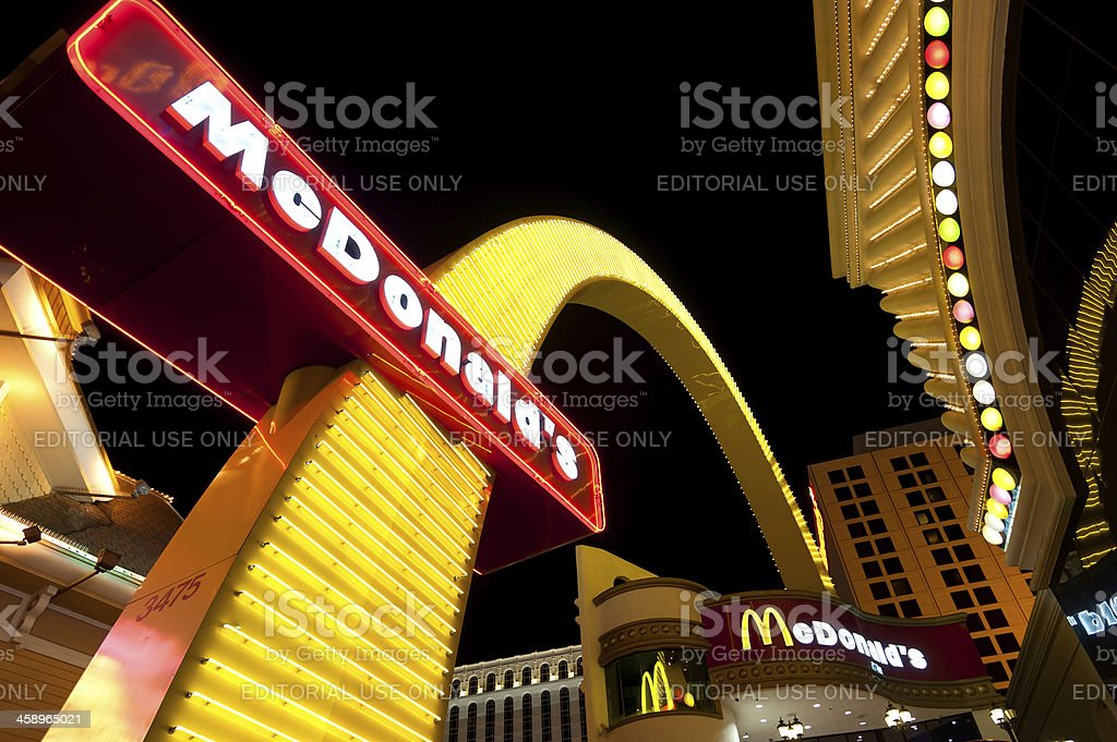 McDonald's Restaurant in Las Vegas, Nevada stock photo