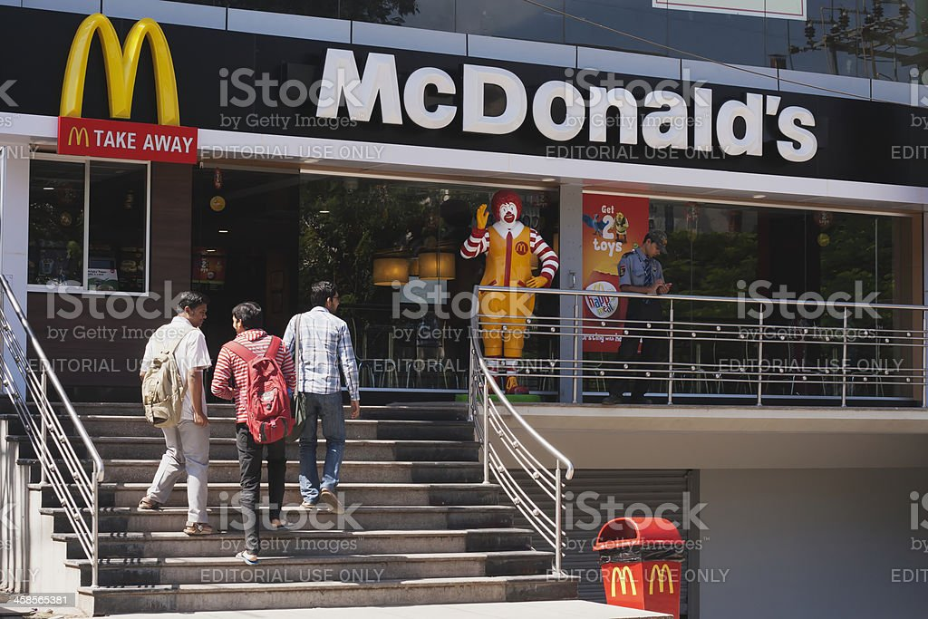 McDonald's restaurant, India royalty-free stock photo