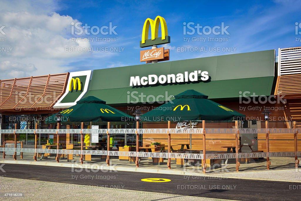 McDonald's Restaurant royalty-free stock photo