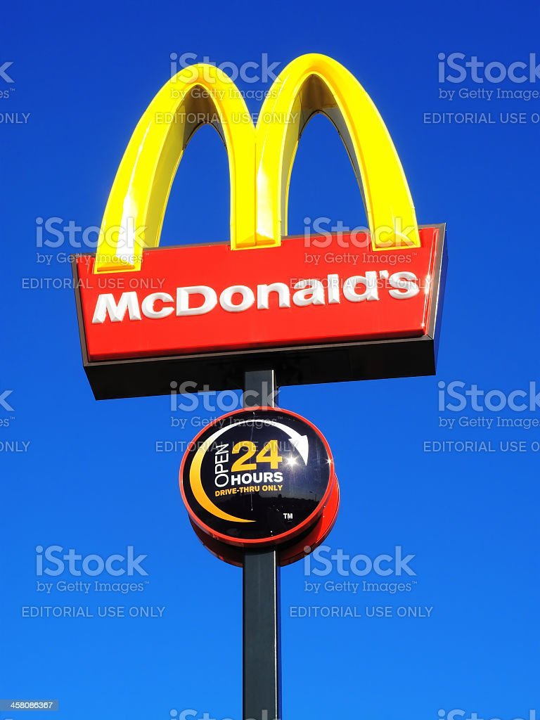 McDonald's Sign stock photo