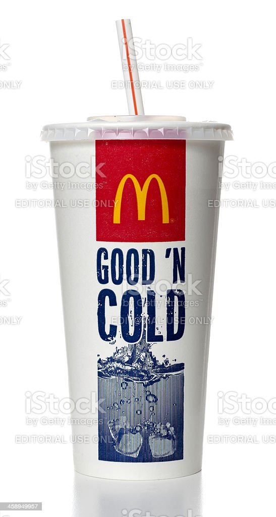 McDonalds soda cup royalty-free stock photo
