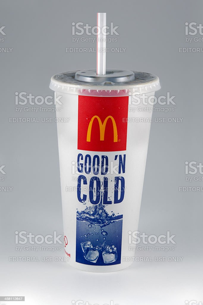 McDonald's Soft Drink royalty-free stock photo