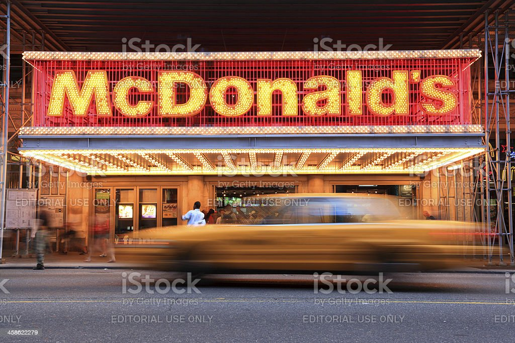 McDonald's, Times Square, New York City royalty-free stock photo
