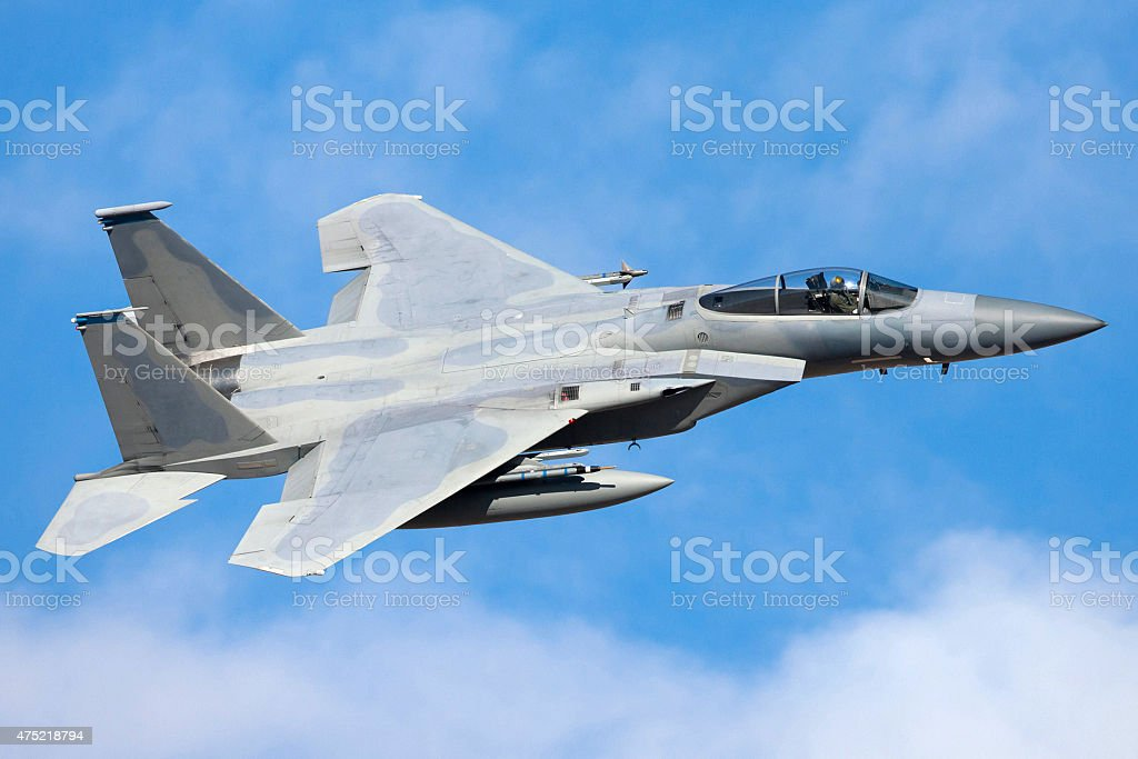 McDonnell Douglas F-15 Fighter Aircraft stock photo