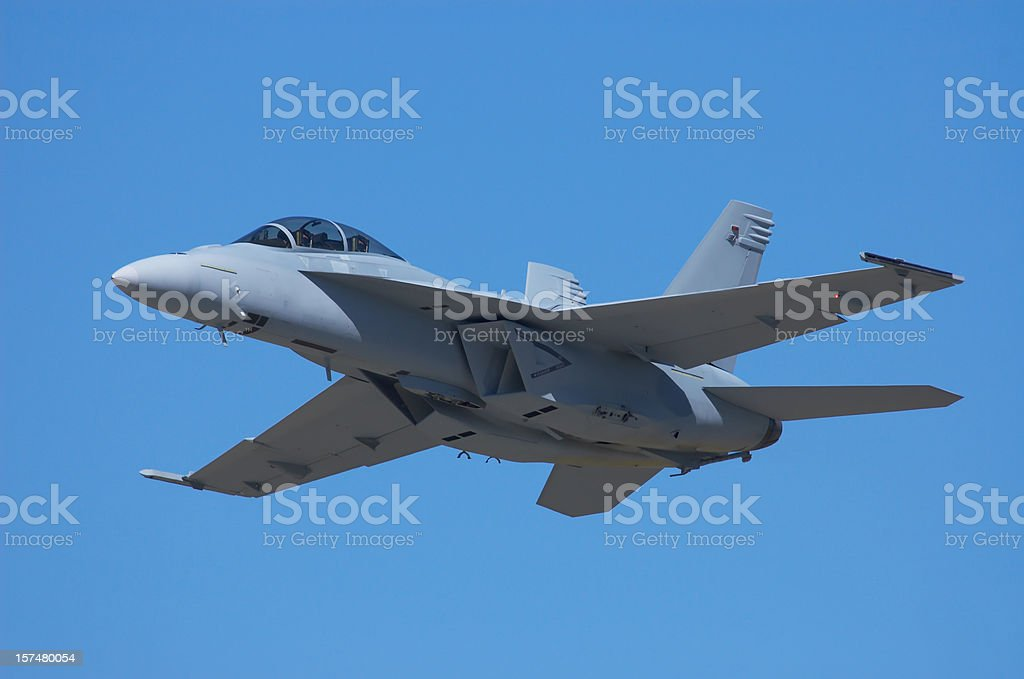 McDonnell Douglas FA-18 Hornet Military Jet. royalty-free stock photo