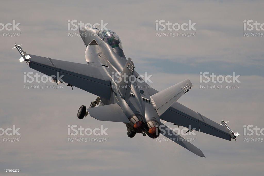 McDonnell Douglas FA-18 Hornet Military Jet. stock photo