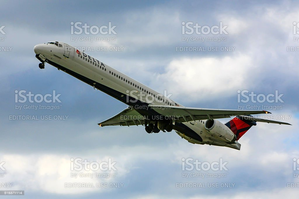 McDonnell Douglas MD-80/90 commercial jet plane of Delta Air Lines stock photo