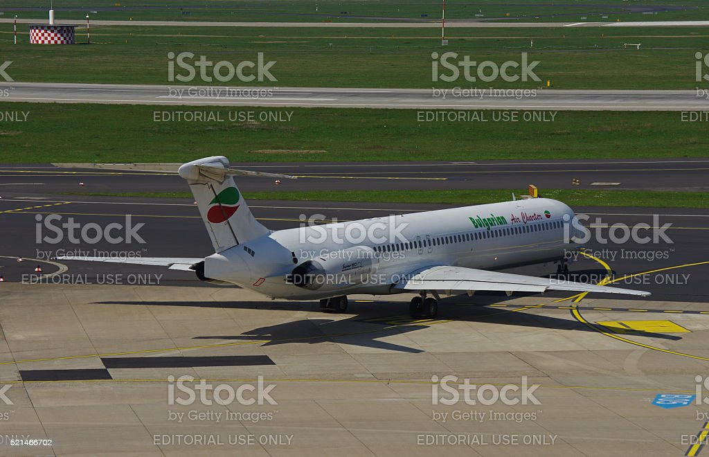 McDonnell Douglas MD-82 of Bulgarian Air Charter stock photo