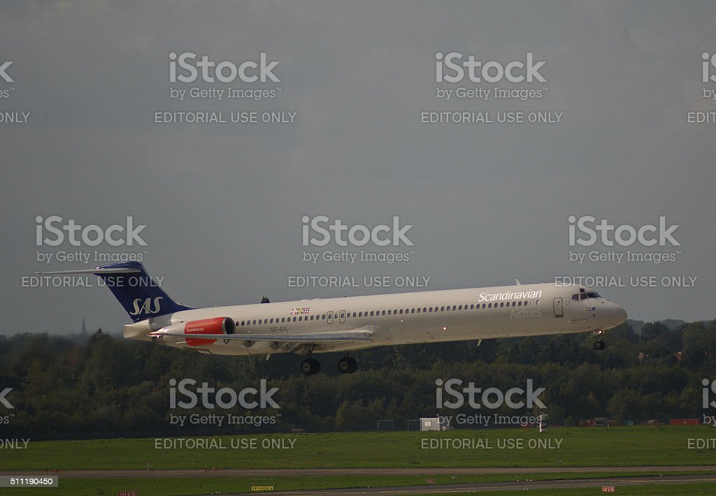 McDonnell Douglas MD-82 of SAS Scandinavian Airlines stock photo