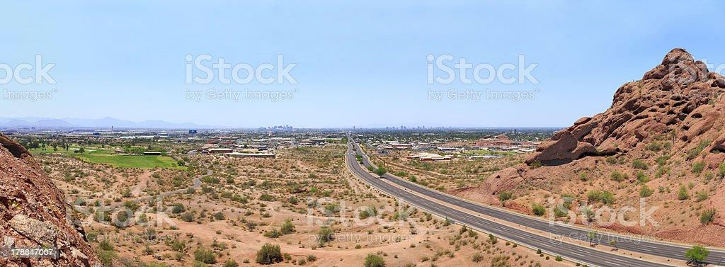 McDowell Road to Phoenix, AZ stock photo