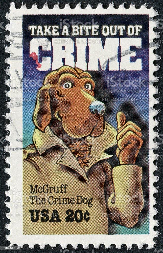 McGruff The Crime Dog Stamp stock photo