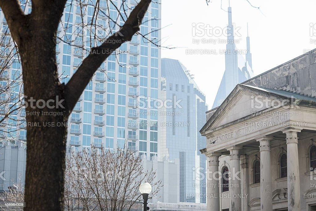 McKendree Methodist Church in Nashville royalty-free stock photo