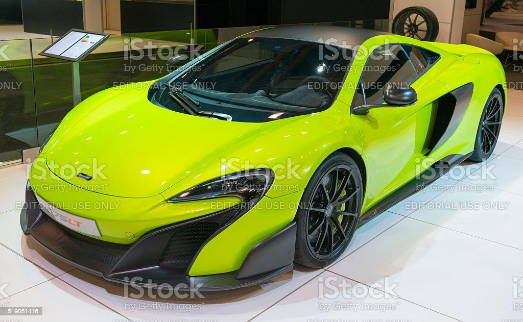 McLaren 675LT sports car stock photo