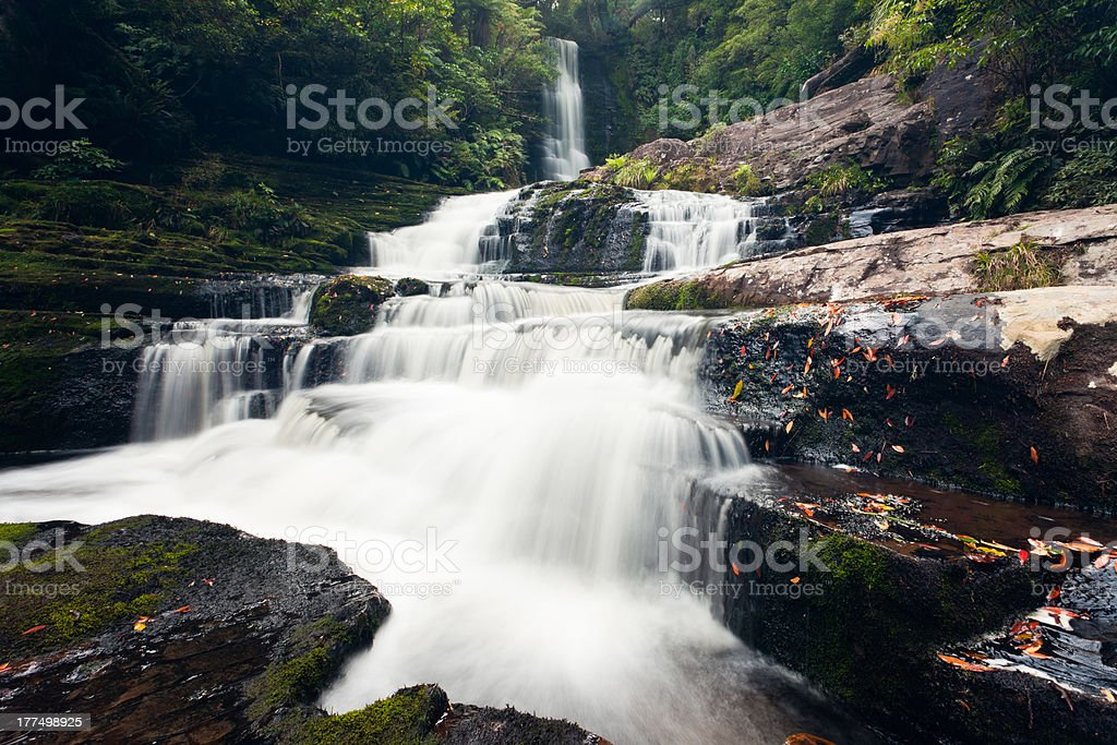 McLean Falls in The Catlins region of New Zealand royalty-free stock photo