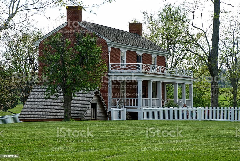 McLean House at Appomatox Courthouse stock photo