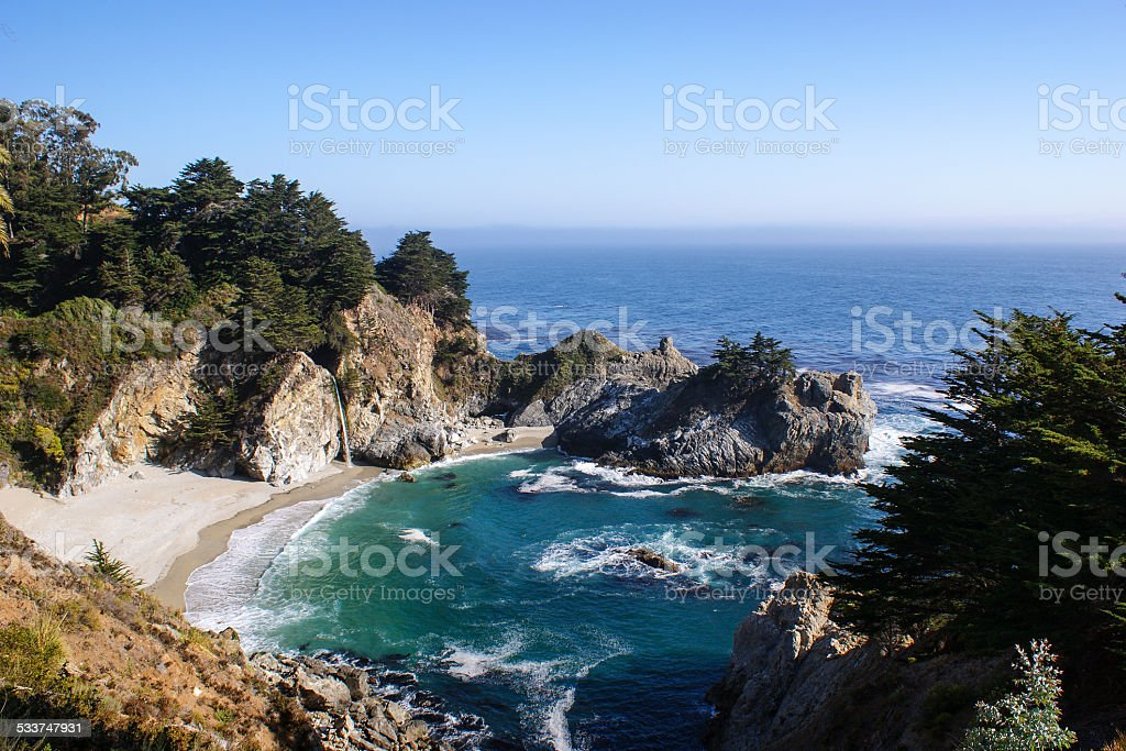McWay Cove, Big Sur, California, USA. stock photo