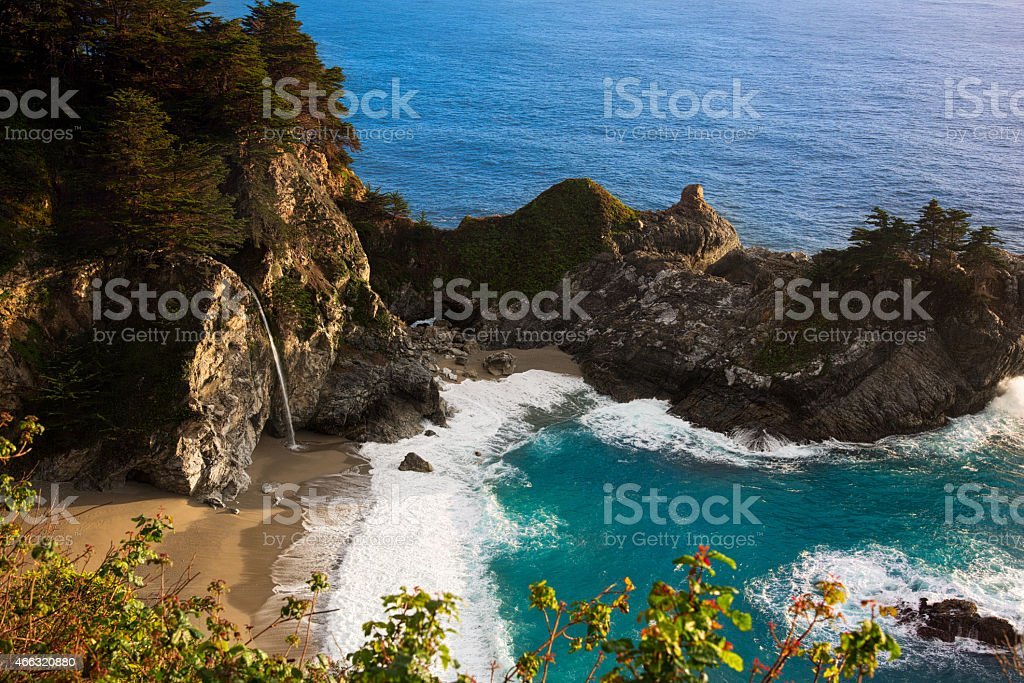 McWay Falls at Big Sur California stock photo