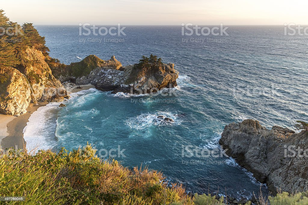 McWay Falls, Big Sur, California stock photo