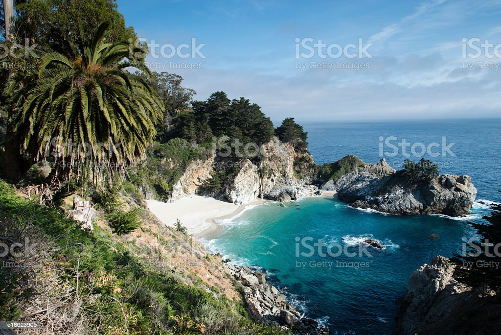 McWay falls Big Sur California stock photo
