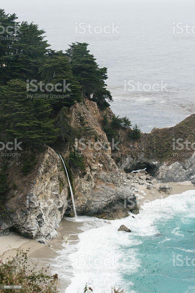 Mcway Falls - Big Sur, California stock photo